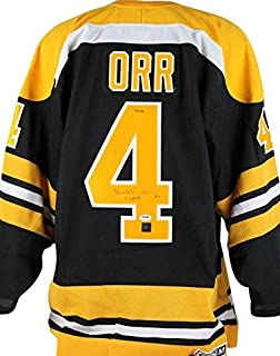 Bruins Bobby Orr '3 X MVP' Signed Ccm Jersey Great North Road & - PSA/DNA Certified - Autographed NHL Jerseys