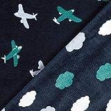 Fabulous Fabrics Fleece Marineblau, Kindermotiv, 145cm