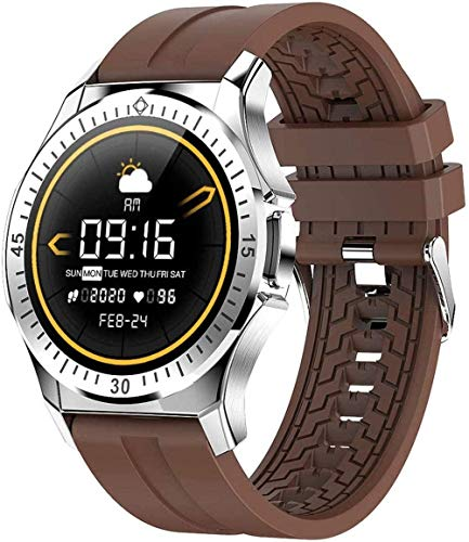 Reloj inteligente temperatura del cuerpo frecuencia cardíaca presión arterial reloj inteligente impermeable ejercicio contador de pasos salud pulsera inteligente (Color: C)-B