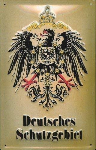 Deutsches Schutzgebiet (schwere Qualität) Blechschild Schild Blech Metall Metal Tin Sign 20 x 30 cm
