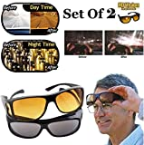 WAQIF Day & Night Unisex HD Vision Goggles Sunglasses Men/Women Driving Glasses Sun
