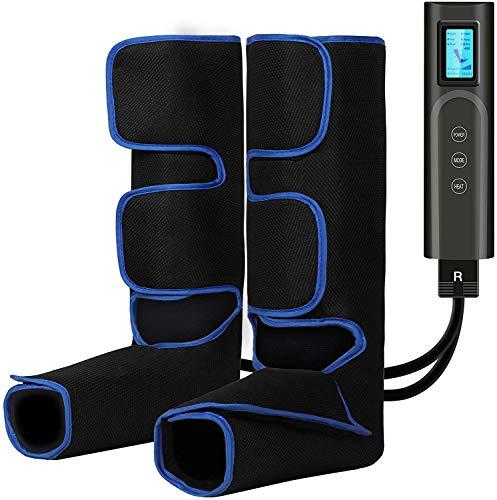 Elektrisches Fußmassagegerät mit Heizfunktion, Beine Massagegerät mit 6 Massagemodi für Waden und Füße, Massagegerät für Fuß, Bein-Massage-Gerät für zuhause, gegen Schwellungen und müde Beine