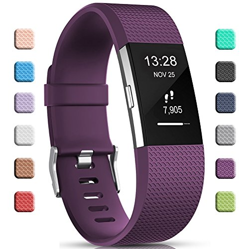 Gogoings Correa para Fitbit Charge 2 Pulsera Ajustable Correa de Reemplazo Deportivo Compatible con Fitbit Charge2 para...