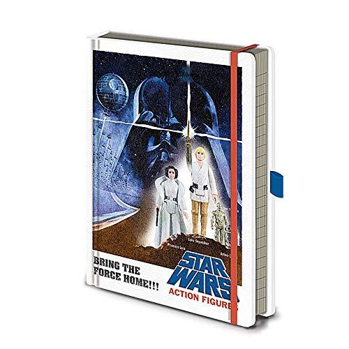 Cuaderno de notas de Star Wars con figuras de acción A5 de tapa dura