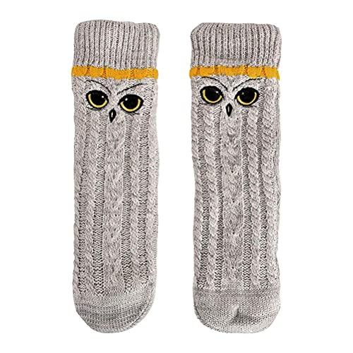 Bioworld Harry Potter Socken Hedwig mit Teddyfell 39-42 grau