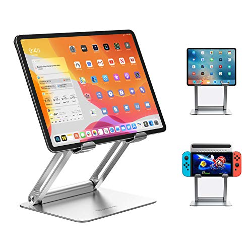 Tablet Stand ipad Holder Ankmax STPF2 Folding Holder Height Angle Adjustable Aluminum Posture Improvement Ergonomic Design Excellent Stability Compatible with iPad / Surface Models 6-12.9 inch