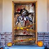 Halloween Unheimlich Zombie Tür Poster Großer Unheimlich