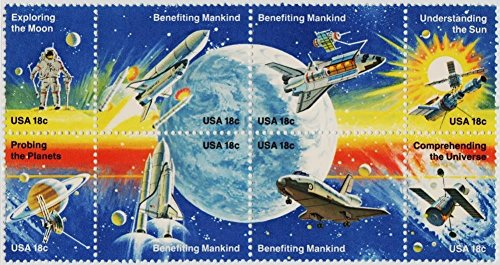 Stamps U.S. 1981 Space Achievement Scott 1912 -19 MNHVF Pane x 8 lot