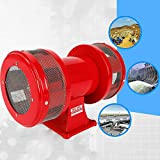 Industrial Electric Motor Driven Alarm Siren Horn, 110V MS-590 Air Raid Siren Farm Fire Boat Alarm High Decibel 120dB Alarm, Warning/Reminding Continuous Sound Buzzer