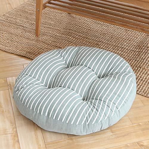 ZDYD Sommer Breathable Butt Pad, Runde Kissen for Boden Stuhl Office Student Home Tatami Hocker (Color : E, Size : 55 * 55cm)