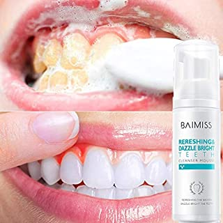 Barhalk Natural Stain Removal Whitening Baking Soda Herbal Foam Toothpaste Cleaning Mousse Toothpaste Oral Hygiene Removes Plaque Smoke and Coffee Stains Prevent Tooth Decay