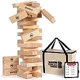 Jenga Game Wooden Blocks Stacking Tumbling...