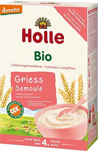 Holle Bio Bio-Vollkorngetreidebrei Grieß (6 x 250 gr)