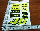 Ecoshirt RW-GXFX-S0W5 Pegatinas Stickers Rossi Vr46 Pg17 Aufkleber Autocollants Adesivi Moto GP Decals The Doctor
