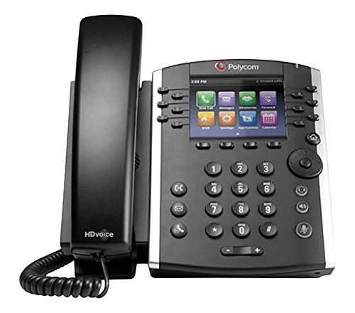 Polycom 2200-46157-025 Desktop Telefon VoIP VVX400 schwarz