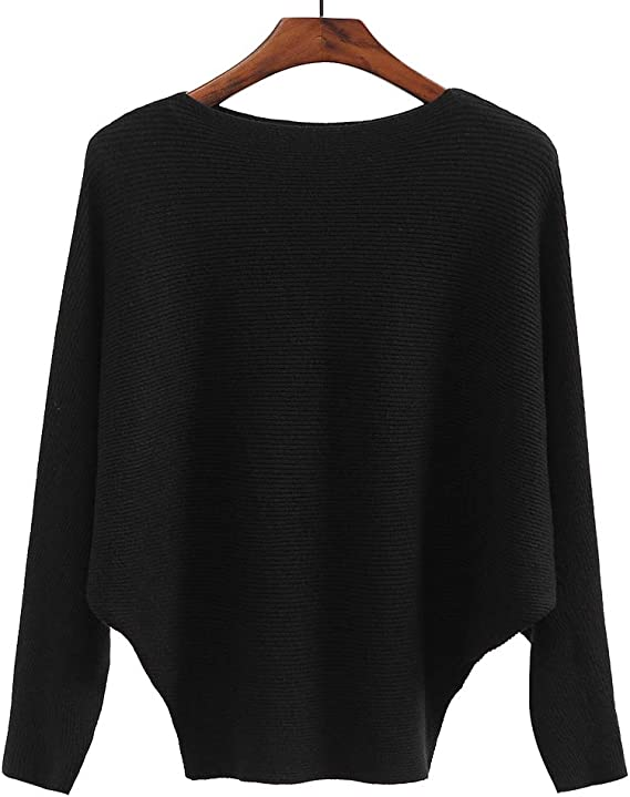 Ckikiou Women Sweaters Batwing Sleeve Casual Cashmere Jumpers Winter Pullovers