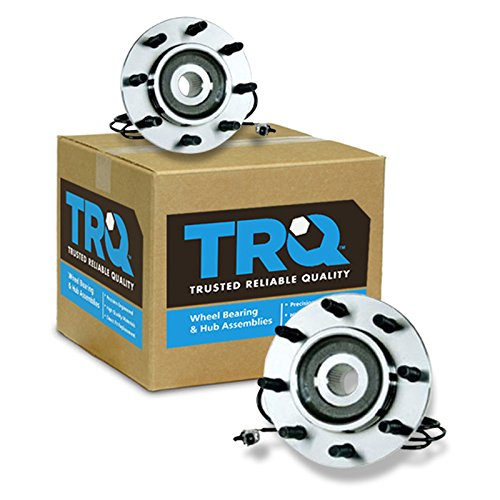 TRQ Front Wheel Hub & Bearing Left & Right Pair Set for 00-02 Dodge Ram w/ABS