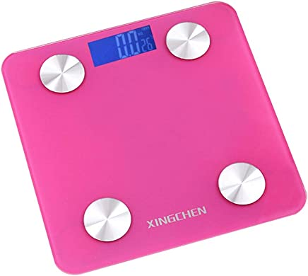 TOPBATHY Weight Scale Digital Body Weight Bathroom Scale LCD Display High Precision Measurements Indoor Temperature Meter (Pink)
