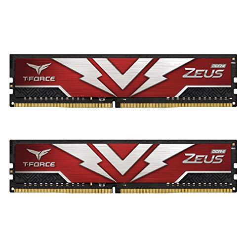 TEAMGROUP T-Force Zeus DDR4 16GB Kit (2 x 8GB) 3200MHz (PC4 25600) CL20 Desktop Gaming Memory Module Ram - TTZD416G3200HC20DC01 Delaware