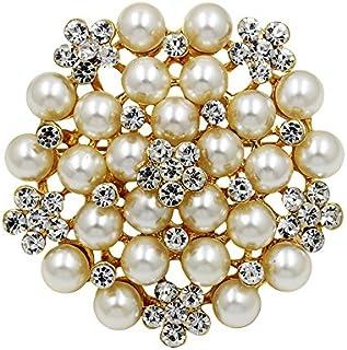 Ruikey Broche de la Perla,Broche de la Hembra,Broche Elegante y Hermoso