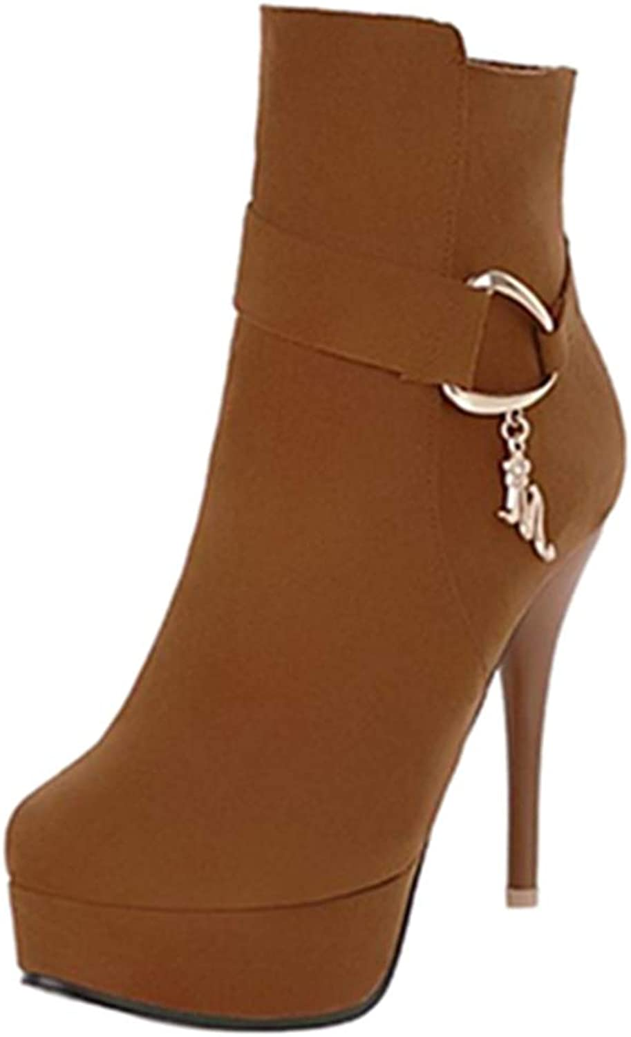 Smilice Women High Stiletto Ankle Boots