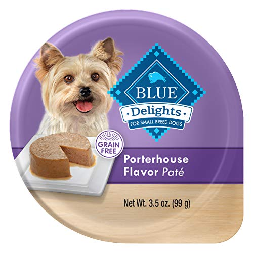 Blue Buffalo Delights Natural Adult Small Breed Wet Dog Food Cup, Porterhouse Flavor in Savory Juice 3.5-oz (Pack of 12)
