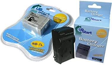Replacement for Canon PowerShot SX30 is Battery and Charger - Compatible with Canon NB-7L Digital Camera Batteries and Chargers (1500mAh 7.4V Lithium-Ion)