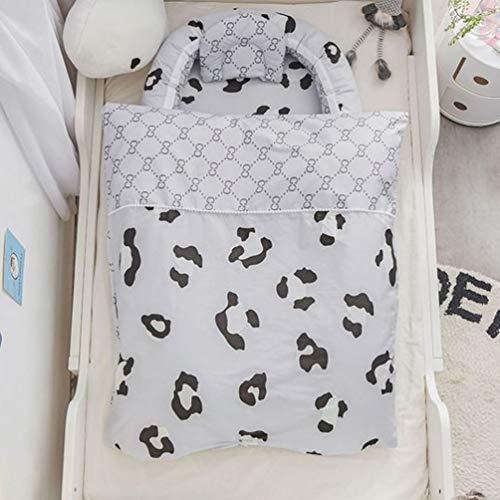 GHKJ Tumbona para Recién Nacidos De 100% Algodón Orgánico, Nido De Bebé Resistente Al Agua para Recién Nacidos, Tumbona Portátil para Recién Nacidos para Bebés (0-24 Meses),Style 1
