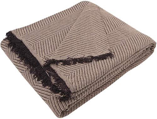 Regalitostv (230 Camel/Marrón) SEDELLA* Colcha Multiusos Foulard Plaid Liso para Cama o sofá Garantizada Fabricado EN ESPAÑA (230_x_260_cm, Camel/MARRÓN)