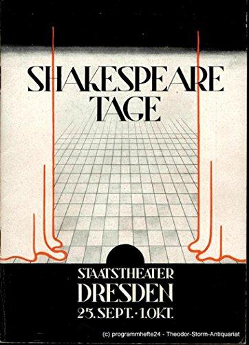 Programmheft Shakespeare Tage Staatstheater Dresden 25. September - 1 Oktober 1950. Spielzeit 1950 / 51 Heft 2