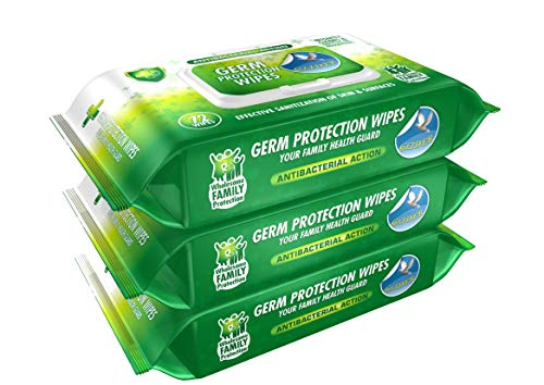 Glider Germ Protection Multipurpose Skin and Surface Wipes with Flip-top (Pack of 3 (216 Wipes))