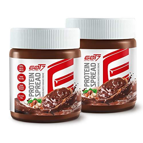 GOT7 - Sparpaket - 2x Protein Spread Haselnuss – Kakao Creme Creme Aufstrich Protein Eiweiß Brotaufstrich Diät Fitness Bodybuilding - 2x 200g