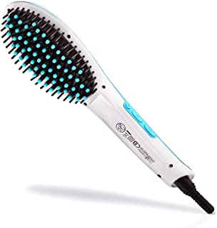 ProCabello Luxury 5500 Ionic Hair Straightener Brush with FRIZZ Free Ceramic Tourmaline Coating | Single Pass Infrared Str...