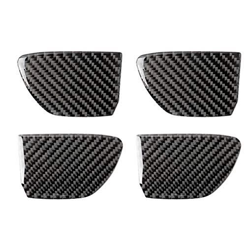 Floridivy Vervanging voor Infiniti Q50 / Q60 2014-2019 4pcs / set binnendeur handvat kom Handle Bowl Cover Carbon Fiber Decoratieve Sticker