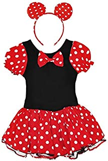 Cartoon Mickey Mouse Girls Christmas Costumes Children's Minnie Stage Dress Up Dance Dress