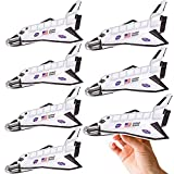 ArtCreativity Space Shuttle Gliders, Set of 24, Flying Toys for Boys and Girls, Made of Foam Material, Outdoor Toys for Children, Outer Space Party Favors for Kids, Great for Indoor & Outdoor Play