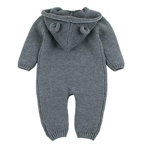 Pwtchenty Kleinkind Baby Mädchen Kleidungs Outfits Kleidung Babykleidung Jumpsuit Bodysuit Playsuit Set Babykleidung Anzug Kinderkleidung Warme Kleine Ohren Kapuzenpullover Bekleidungsset Set