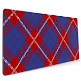 Non-Slip Spill-Resistant Desk Pad Gaming Mouse Pad Large(35.4×15.7×0.12in),Clan Hamilton Tartan