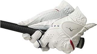 MIZUNO(ミズノ) ゴルフグローブ ダブルグリップ レディース 左手用 人工皮革+シリコーンプリント加工×合成皮革 18~21cm