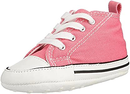 Converse CT First Star Toile, Botines de Lona Bebé-Niños, Rosa (Pink), 17 EU