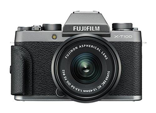 Fujifilm X-T100 - Cámara digital, objetivo XC15-45 mm, 24,2...