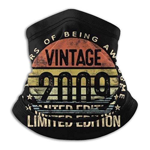 Overlooked Shop Pasamontañas Regalos de años Vintage 2009 Edición Limitada Máscara Facial Polaina para el Cuello Pasamontañas Multifuncional Bandana al Aire Libre