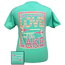 Girlie Girls All You Need is Love & the Lake Short Sleeve T-Shirt