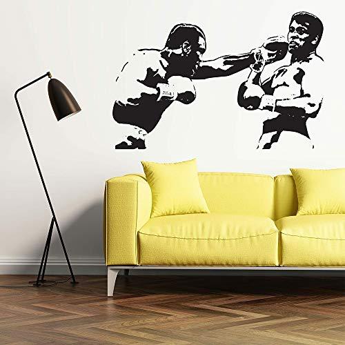 fdgdfgd Boxer Wandtattoo Friteuse v Ali Boxen Sport Wandaufkleber Vinyl Home Wanddekoration Abnehmbares Wohnzimmer Schlafzimmer Dekoration Wandbild