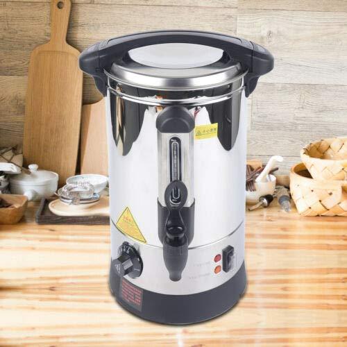 5L Heißwasserspender Wasserkocher Glühweinkocher Einkochautomat aus Edelstahl Mit Wasserschale Kann Likör Kaffee Tee
