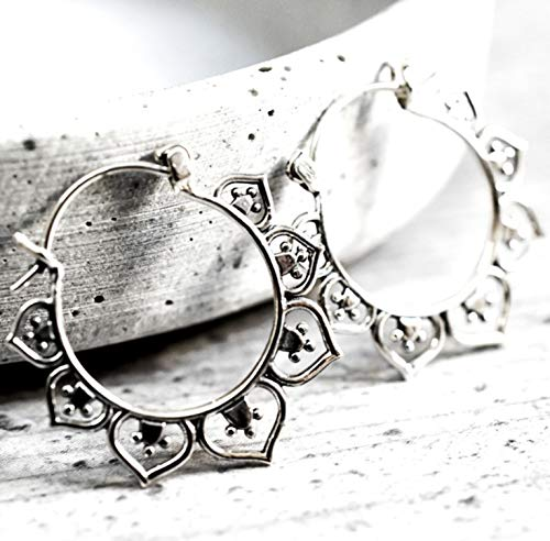 Silber Ohrringe KARMA - 925 Sterling - Hängend 2,5 cm - Sehr Leicht