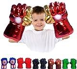 FAIRZOO Iron Superheros Gauntlet Smash Hands Fists Big Soft Plush Kid Boxing Training Gloves Pair Halloween Costume