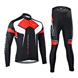 Lixada Farradkleidung Sportbekleidung Set Fahrrad Anzug Langarm Radtrikot + Hose(XXL)