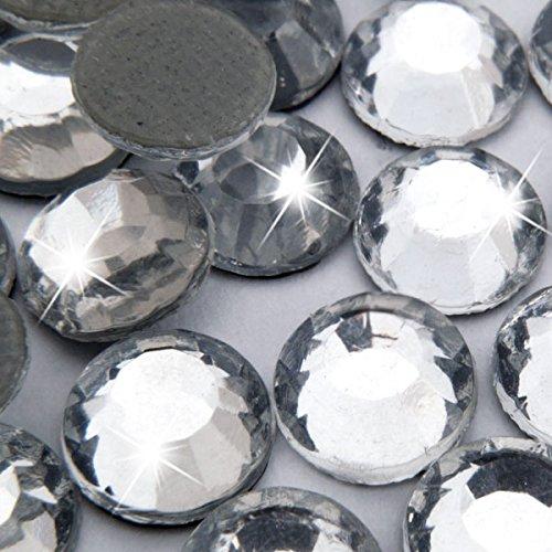 500 Stück Hotfix Strasssteine, Professional Qualität, Crystal, SS16 (Ø ca. 3,8 mm), zum Aufbügeln