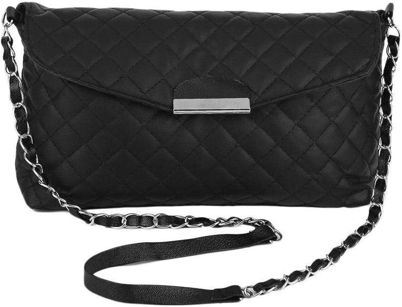 2310ae581 Bloomerang Classic Fashion Women Shoulder Bag PU Leather Clutch Chain  Handbag Tote Purse Mini Messenger Bag
